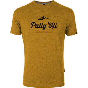 Pally'Hi Classic Peak Logo T-Shirt Heren, heather sundance